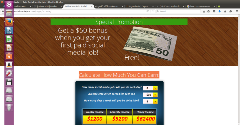 earn fifty dollars forfirst paid job
